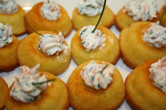 Bouchées au parmesan et sa ricotta de saumon