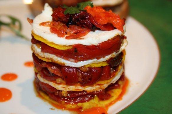 Omelette à l'espagnole décomposée