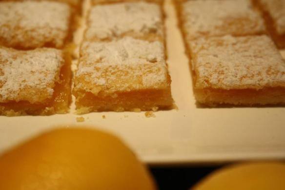 Petits carrés citron
