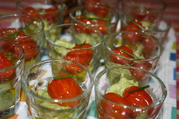 vérines tomates avocats