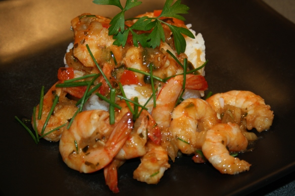 Crevettes sautées aux saveurs d'Asie