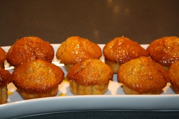 Gâteaux à l'orange et au sirop d'érable