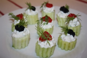 Bouchées de concombre apéro