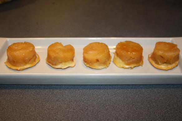 Tartes tatin de pommes en bouchées