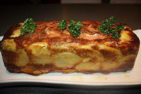 Cake de pommes de terre et cèpes