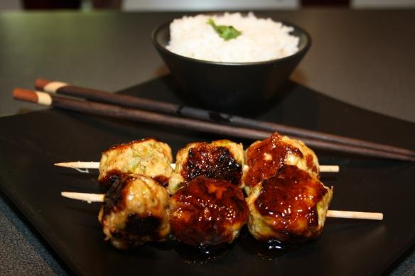 Boulettes de poulet Yakitori
