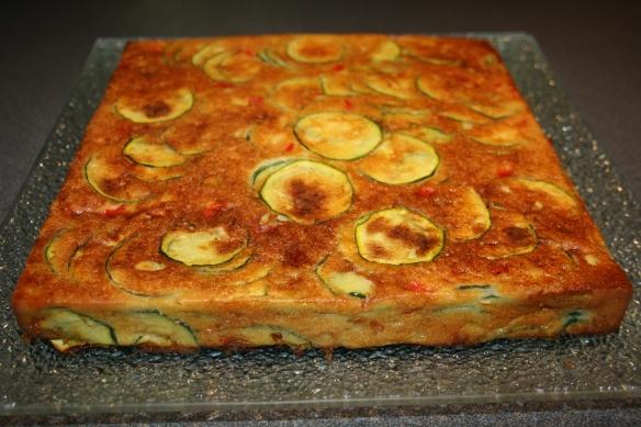 Gâteau de courgette cœur fondant raclette