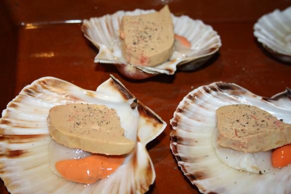St Jacques au foie frais et Sauternes