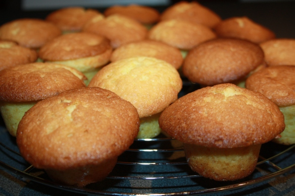 Mini muffins cœur citron lemon curd