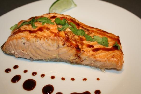 Saumon mariné laqué à sa sauce Teriyaki