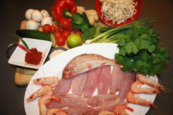 Salade de rouget thaï au satay