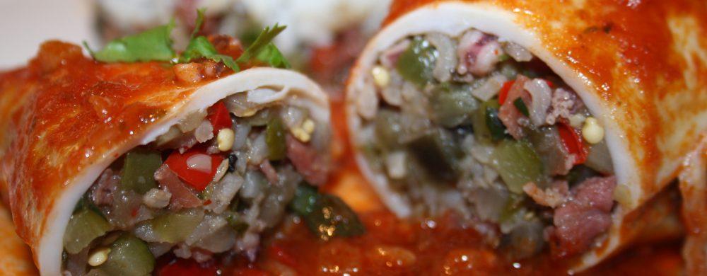 Encornets farcis aux légumes d'été et jambon de Bayonne — Les petits plats de Christopher