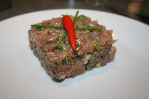 Tartare de thon aux saveurs Thaï