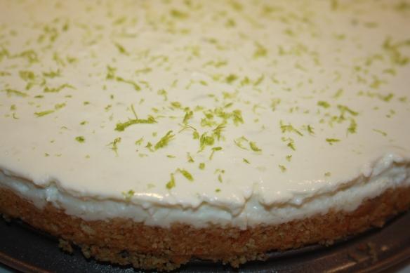 Cheese cake au citron vert sans cuisson